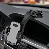 Miracase Car Phone Mount,Dash&Windowshield Car Phone Holder,Washable Strong Sticky Pad with One Button Car Mount Compatible iPhone Xs/XS MAX/XR/X/8/8Plus/7/7Plus/6/6Plus,Galaxy S7/S8/S9/S10 and More