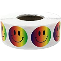 3/4 Inch Round Smiley Face