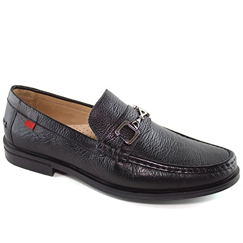 Mens Genuine Leather Made in Brazil Astoria Bit Black Buckle Loafer Marc Joseph NY Fashion Shoes ()