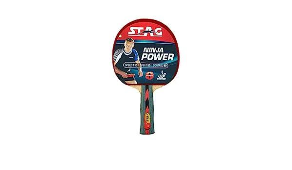 Amazon.com : Stag Ninja Power Table Tennis Racquet : Sports ...