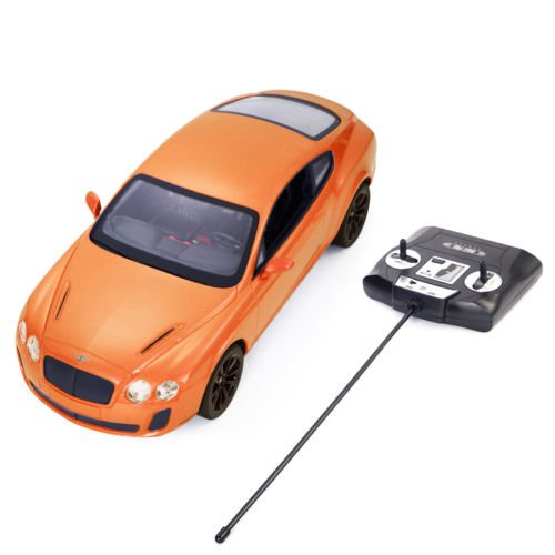1/14 Bentley Continental GT Supersports Radio Remote Control RC Car Orange New by Unbranded