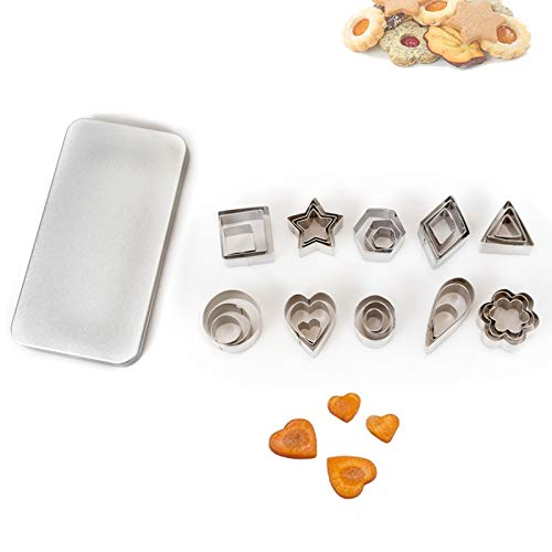 30PCS Cookie Cutters, Stainless Steel Biscuit Cutter Star Cookie Cutter Metal Cookie Cutters Heart Cookie Cutter for DIY…