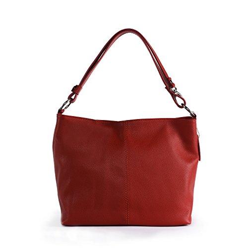 OH MY BAG Sac à Main cuir femme - Modèle KUTA Rouge Clair