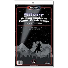 (100) Silver Age Standard Size Crystal Clear Comic Book Bags Pages By BCW