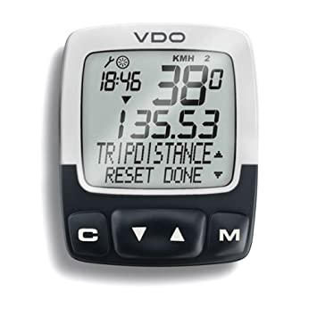 Vdo c2-ds wireless digital & water resistant 10 mode cycle.