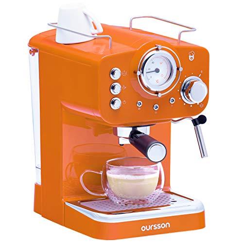 Oursson Máquina de Café Espresso – Cappuccino (Naranja)