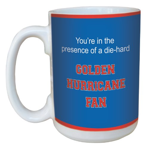 Tree-Free Greetings lm44586 Golden Hurricane College Football Fan Ceramic Mug with Full-Sized Handle, 15-Ounce