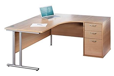 Scrivania Ufficio Faggio : Scrivania per open space in legno moderna per ufficio
