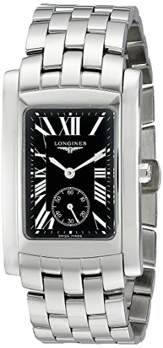 Longines Men's L56554796 DolceVita Analog Display Swiss Quartz Silver Watch