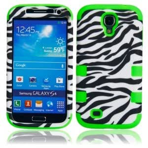 Black and White Protective Case with Zebra Pattern for Samsung S4 i9500 Green