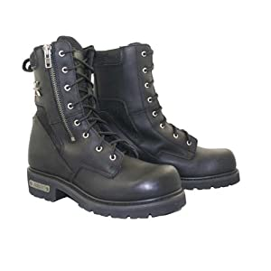 Xelement Mens Black Xelement Assassin Biker Boots - 10