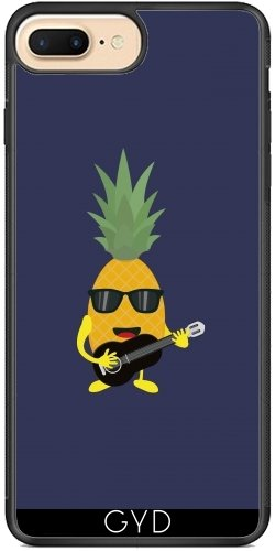 Coque Silicone pour Iphone 7 Plus / 8 Plus - Rock 'n' Roll Ananas by ilovecotton