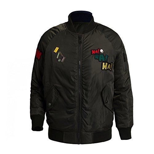 LeoVera Women Design Embroidered Jacket Souvenir Jacket Bomber Jacket Baseball Jacket (Embroidered Jacket)