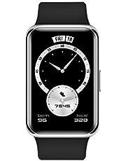 HUAWEI Watch Fit Elegant, 1.64 inç Canlı AMOLED Ekran, Hızlı Egzersiz Animasyonları, 10 Gün Pil Ömrü, Siyah, Stia-B29