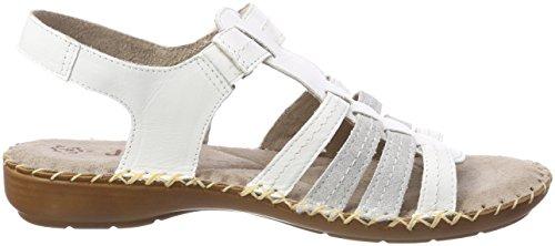 Jana 28109, Sandalias de Talón Abierto Para Mujer Blanco (White)