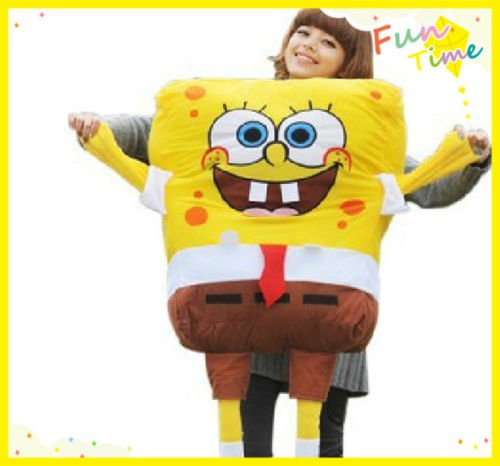 TONGROU HUGE 1.2M SPONGEBOB SQUAREPANTS PLUSH DOLL SOFT BEAR KID BABY CHILD STUFFED TOY