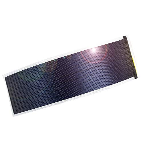 (jiang Flexible Solar Panel Solar Cell Small Thin Film Solar Panel DIY Solar Power Panel Science Experiments 0.5W/1.5V/360MA (Translucent))
