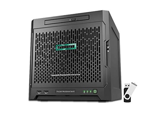 HP ProLiant MicroServer Gen10 Tower Server Bundle with 16GB USB Drive, AMD Opteron X3421, 16GB DDR4, 4TB SATA HDDs, RAID