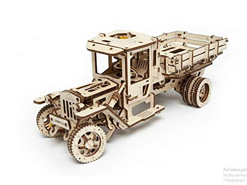 UGEARS Wooden 3D Model Mechanical Truck UGM-11 3D Puzzle Construction Gift Set self-Assembly
