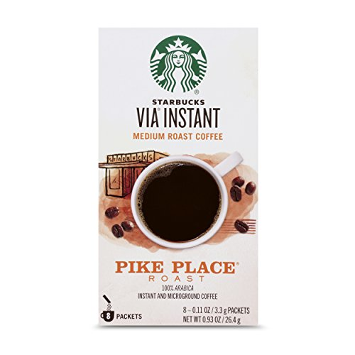 Starbucks VIA Instant Coffee, Pike Place Roast, 8 Count
