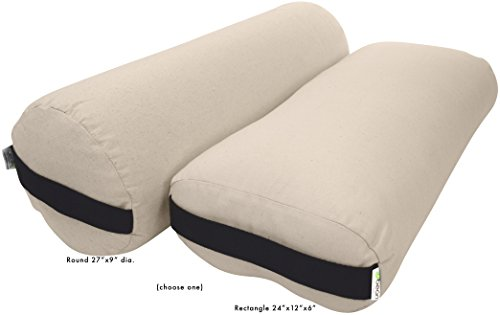 Bean Products Yoga Bolster - Cotton Round - Natural