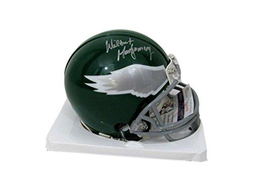 (Wilbert Montgomery Philadelphia Eagles Signed Throwback Mini Helmet JSA 131615)