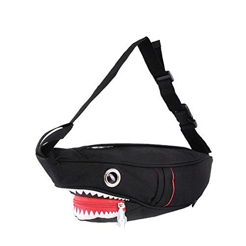 Yy.f Nuevo Bolsas Pecho De Los Hombres De Tiburón Personalizados Bolsas De Ocio Bolsas Femenina Modelos De Pareja Charol Y La Bolsa Duradera Multicolor Silver