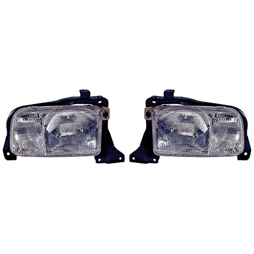 (Fits Chevrolet Tracker 99-04 Headlight Assembly Pair Driver and Passenger Side (NSF Certified))