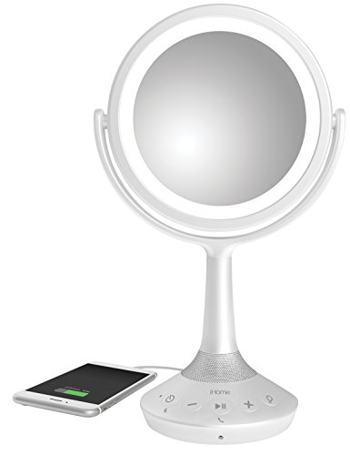 """iHome Beauty iCVBT5 6"""" Double-sided Vanity Mirror with Bl..."""