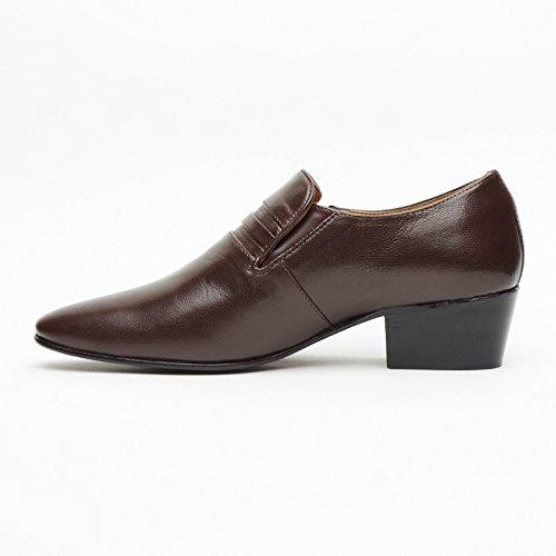 Lucini Hochzeit Braun Herren Loafter Büro Schuhe Leder a6wraq