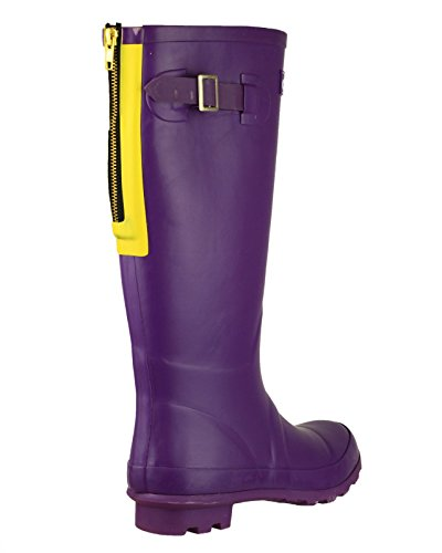 Cotswold - Purple - Pull-On Wellingtons - Size 3 4 5 6 7 8 Purple