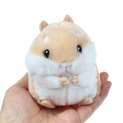 bjduck99 Cute Stuffed Animals Hamster Key Chain Keyring Bag Pendant Car Decor - Brown