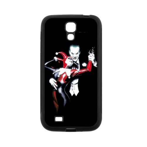 Protective Hard Black Case Cover for Samsung Galaxy S4 S IV I9500 - Joker and Harley Quinn Designed by (Windy City Harley)