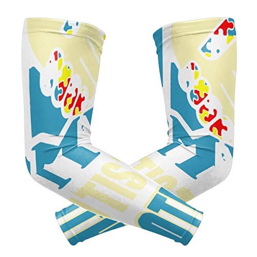 Gulong~a Autism Awareness I Love My Autistic Brother UV Protection Cooling Arm Sleeves 1 Pair Sports Compression Sleeves for Cycling Running Basketball Football (Burning Pain In The Ball Of My Foot)