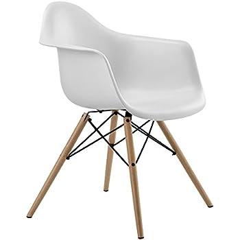Amazon Com Fine Mod Wood Leg Dining Side Chair Chairs