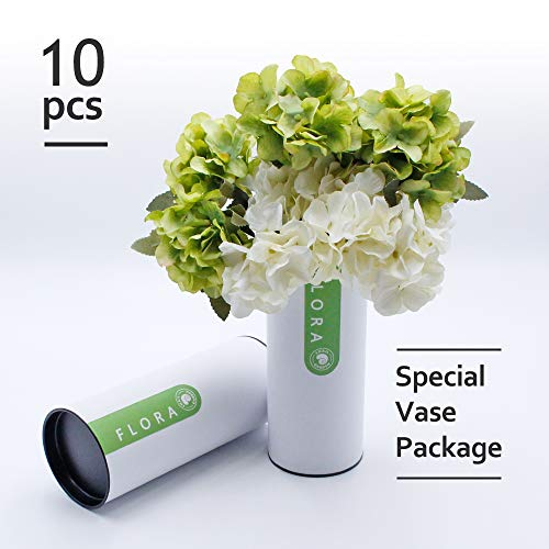 Snail Garden 2 Pack Artificial Hydrangea 2 Colors Fake Flowers with Flower Tube for Best Arranging for Living Home,Office,Party and Wedding -