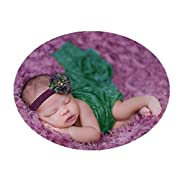 Newborn Baby Photo Props Blanket Backdrop Lace Wrap for Boy Girls Photography Shoot (Green)