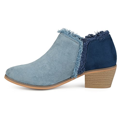 Ankle Co Blue Fringe Booties Suede Brinley Faux Womens aTTXfw