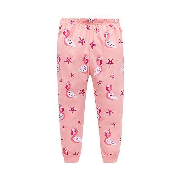 "Tkiames Bambine ""Giraffa"" 2 pezzi Pigiama a maniche lunghe per ragazze Pajama Set 100% cotone 3"