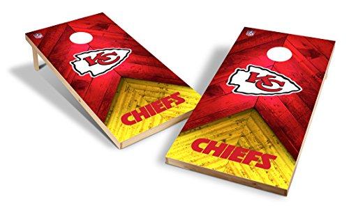 Kansas City Chiefs Bean Bag - Wild Sports NFL 2'x4' Kansas City Chiefs Cornhole Set