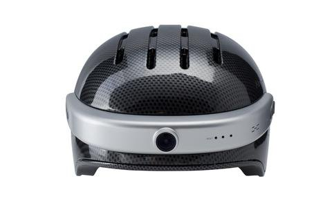 Airwheel C5 Intelligent Helmet with Front Camera and Bluetooth Speaker for Cycling, Mounting, Skateboarding (Carbon Black, Large) by Airwheel (Image #3)