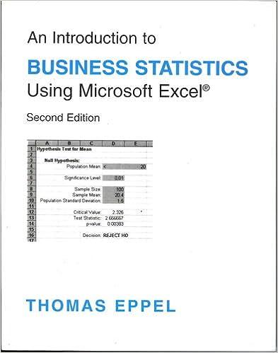 Business Statistics Using Excel Pdf