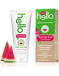 Hello Oral Care Kids Fluoride Free and SLS Free Toothpaste, Natural Watermelon, 4.2 Ounce