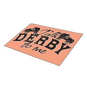 asyouw Derby largo felpudo en blanco un tamaño grande puerta alfombrillas