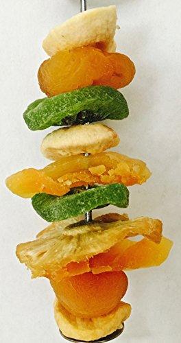 SUGAR GLIDER.SMALL ANIMAL/BIRD SHISH KEBAB WITH DRIED FRUITS (Kabob Treat Holder)