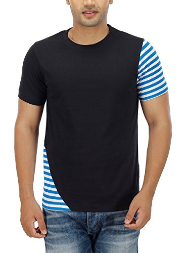 PepperClub Men's Cotton Round Neck Half Sleeve Tshirt.