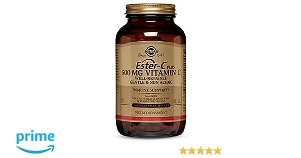 Solgar Ester-C Plus 500 Mg - 250 Cápsulas: Amazon.es: Salud y cuidado personal