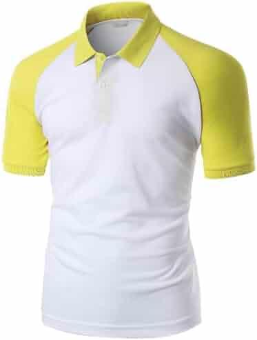1110ade3 Xpril Men's 180-200 TC Luxurious Pique Raglan Short Sleeve Polo T Shirt