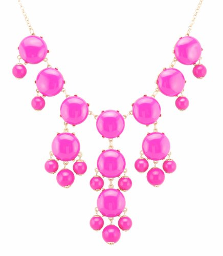fun-daisy-color-bubble-beads-fashion-necklace-collection-classic-bubble-hot-pink