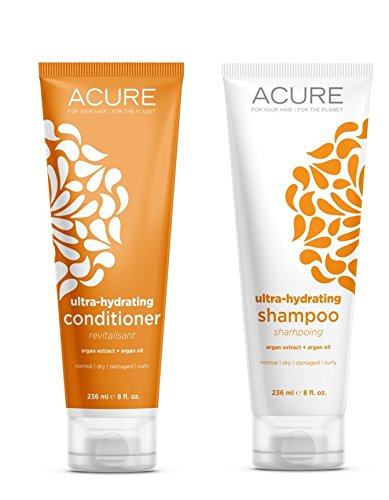 Acure Ultra hydrating shampoo and conditioner